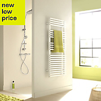 Acova Cala 880W Electric White Towel warmer (H)1681mm (W)500mm