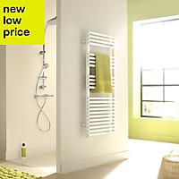 Acova Cala 612W Electric White Towel warmer (H)1161mm (W)500mm