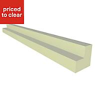 IT Kitchens Gloss Cream Slab Wall corner post, (W)32mm (H)715mm