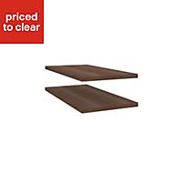 Darwin Modular Walnut effect Internal corner shelf kit (L)272mm (D)548mm, Pack of 2