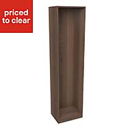 Form Darwin Walnut effect Wardrobe cabinet (H)2004mm (W)500mm (D)374mm