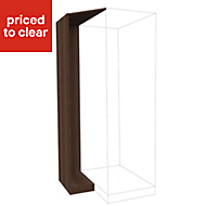 Form Darwin Walnut effect Corner cabinet kit (H)2356mm (W)288mm (D)566mm