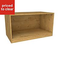 Form Darwin Oak effect Bedside cabinet (H)546mm (W)1000mm (D)566mm