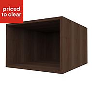 Form Darwin Walnut effect Bridging cabinet (H)352mm (W)500mm (D)566mm