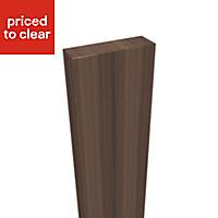 Form Darwin Walnut effect Vertical trim (L)2396mm