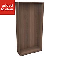 Form Darwin Walnut effect Wardrobe cabinet (H)2004mm (W)1000mm (D)374mm