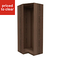 Form Darwin Walnut effect Corner cabinet (H)2356mm (W)998mm (D)854mm