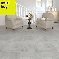 Colours Leggiero Light grey Slate effect Laminate flooring, 1.86m² Pack