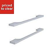 Cooke & Lewis Polished Chrome effect Straight cut-out Cabinet handle, Pack of 2