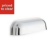 Chrome effect Curved Cup handle, Pack of 2