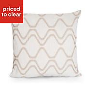 Darama Cream Geometric swirl Cushion