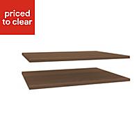 Darwin Modular Walnut effect Internal shelf kit (L)750mm (D)566mm, Pack of 2