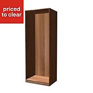 Form Darwin Walnut effect Wardrobe cabinet (H)2004mm (W)750mm (D)566mm