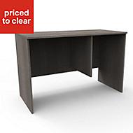 Form Darwin Grey Oak effect Desk (H)782mm (W)1200mm (D)566mm