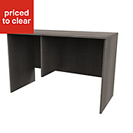 Form Darwin Grey Oak effect Desk (H)782mm (W)1200mm (D)566mm
