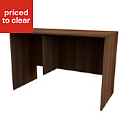 Form Darwin Walnut effect Desk (H)782mm (W)1200mm (D)566mm