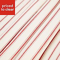 Christina Cream & red Striped Lined Pencil pleat Curtains (W)167cm (L)228cm, Pair