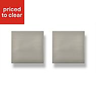Darwin Stainless steel effect Square Bedroom Handle Cabinet door knob (W)80 mm