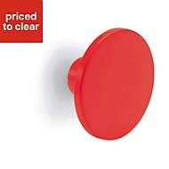 Form Darwin Red Matt Internal Circular Handle (D)40 mm