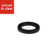 Diall Black SBR washers for dual flush valve, Set