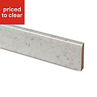White Kashmire Stone effect Upstand (L)3000mm