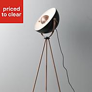 Colours Alboran Black Copper effect Floor light