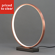 Lyssa Ring Copper effect Table lamp