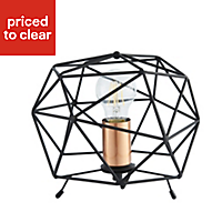 Geo Geometric Black Table lamp