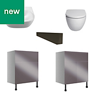 Cooke & Lewis Marletti Anthracite Bathroom pack