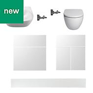 Cooke & Lewis Marletti White Bathroom pack