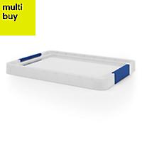 Xago Heavy duty Grey 15L Plastic Small Stackable Storage box & lid