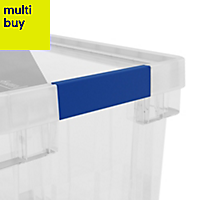 Xago Heavy duty Clear 15L Plastic Small Stackable Storage box & lid