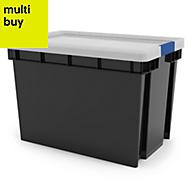 Xago Heavy duty Grey 68L Plastic XL Stackable Storage box & lid