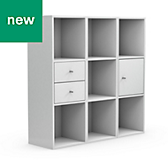 Form Konnect White Storage unit (H)1032mm (W)1056mm, Set of 8