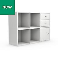 Form Konnect White Storage unit (H)704mm (W)1032mm, Set of 6