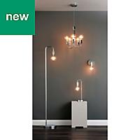 Colours Sapri Chrome effect Incandescent Floor lamp
