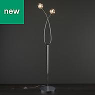 Toral Chrome effect Floor lamp
