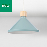 Colours Selma Teal Cone Light shade (D)350mm