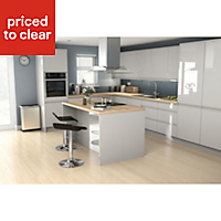IT Kitchens Marletti Gloss Dove Grey Drawer front (W)500mm