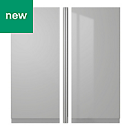 IT Kitchens Marletti Gloss Dove Grey Standard door (W)255mm of 2