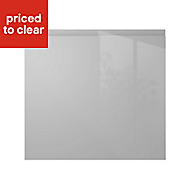 IT Kitchens Marletti Gloss dove grey Standard Cabinet door (W)600mm