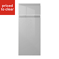 IT Kitchens Marletti Gloss Dove Grey Drawerline door & drawer front, (W)300mm