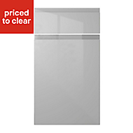 IT Kitchens Marletti Gloss Dove Grey Drawerline door & drawer front, (W)400mm