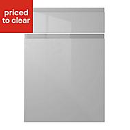 IT Kitchens Marletti Gloss Dove Grey Drawerline door & drawer front, (W)500mm
