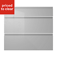 IT Kitchens Marletti Gloss Dove Grey Drawer front (W)800mm