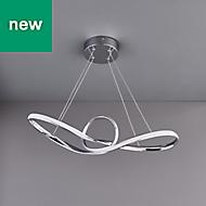 Endor Chrome effect Modern Ceiling light