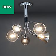 Lilie Modern Chrome effect Ceiling light