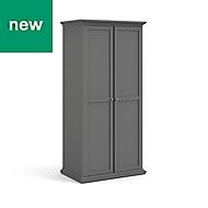Paris Grey 2 door Wardrobe (H)2020mm (W)962mm