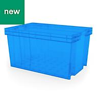 Xago Heavy duty Blue 51L Plastic Large Stackable Storage box