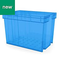 Xago Heavy duty Blue 68L Plastic XL Stackable Storage box